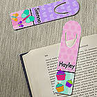 Personalized Butterflies, Cupcakes or Flowers Bookmarks