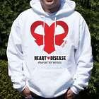 Heart Disease Awareness Red Ribbon Hooded Sweatshirt