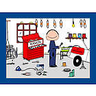 Personalized Mechanic Cartoon Print