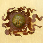 'Gust of Sun' Iron and Ceramic Wall Adornment