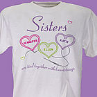 Personalized Heartstrings Sisters T-Shirt