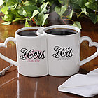 Personalized His and Hers Interlocking Coffee Mug Set