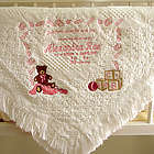 Sent from Above Announcement Style Baby Blanket
