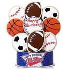 Sports All Star Happy Birthday 9 Piece Cookie Bouquet