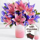 Truly Spectacular Mom Bouquet with Pink Mason Jar & Chocolates