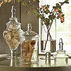 3 Celar Glass Apothecary Jars