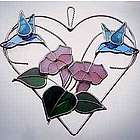 Hummingbird Heart Stained Glass