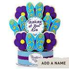 Thinking of You Butterflies and Flowers 9 Piece Cookie Bouquet