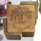 Rooted in Love Personalized Coasters