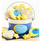 Love You to the Moon Buttercream-Frosted Cookie Gift Pail