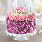 Birthday Wishes Large Pastel Flower Cake