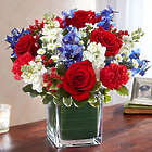 Large Healing Tears Red, White & Blue Bouquet