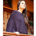 Double Plum Braids Alpaca Wool Poncho