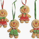 Big Head Gingerbread Ornaments