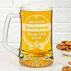 Cheers to the Groomsman Personalized Beer Mug