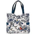 Songs of Spring Bird Art Quilted Tote Bag
