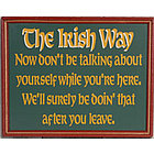 The Irish Way Sign