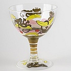 Banana Split Sundae Handpainted Ice Cream Sundae Bowl