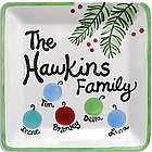 Personalized Christmas Family Platter