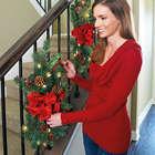 Pre-Lit Christmas Staircase Garland