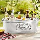 'Personalized Backyard Bar Beverage Tub' from the web at 'https://img1.findgift.com/Graphics/Gifts/140/047/PR_504047.jpg'