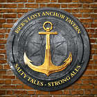 Anchors Aweigh Round Wood Tavern Sign