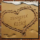Couple's Heart in Sand Personalized Wall Sign