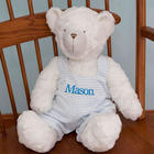 Personalized Embroidered Blue Striped Jumper Teddy Bear