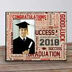 Personalized Graduation Word-Art Printed Picture Frame