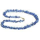 Kyanite Briolette Necklace in 14K Yellow Gold