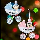 Personalized Baby in Carriage Ornament