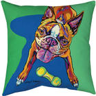 Dogs of Many Colors Outdoor Pillow