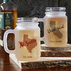 State Pride Personalized Frosted Mason Jar