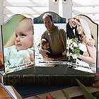 Personalized Photo Sentiments Petite Triple Photo Plaque