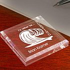 Personalized Surfing Keepsake and Paperweight
