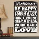 Personalized Family Rules Wall Art