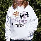 I Love My Shih Tzu Personalized Hooded Sweatshirt
