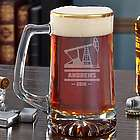 Oilfield Gold Rim Custom Beer Mug