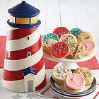 Lighthouse Cookie Jar with 12 Cookies