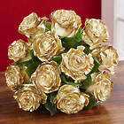 Dazzling Golden Air Brushed Roses Bouquet