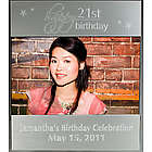 Engraved 21st Birthday Silver Picture Frame