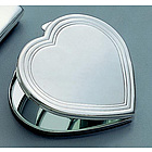 Silver Plated Heart Shaped Compact