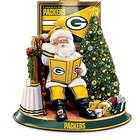 Green Bay Packers Illuminated Talking Santa Tabletop Centerpiece
