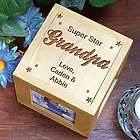 Super Star Grandpa Custom Wooden Photo Cube