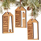 Personalized All About Family Gift Tag Ornament