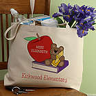 Teddy Bear Personalized Teacher Tote Bag