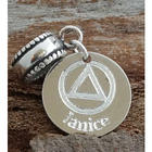 Alcoholics Anonymous Engraved Charm