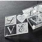 Personalized Love Glass Coaster