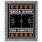Classic Personalized Two Color Basketball Afghan