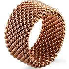 Tiffany Inspired Rose Gold Stainless Steel Mesh Ring